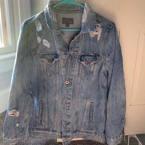 Lucky Brand Jackets & Blazers - Lucky brand boyfriend cut distressed denim jacket